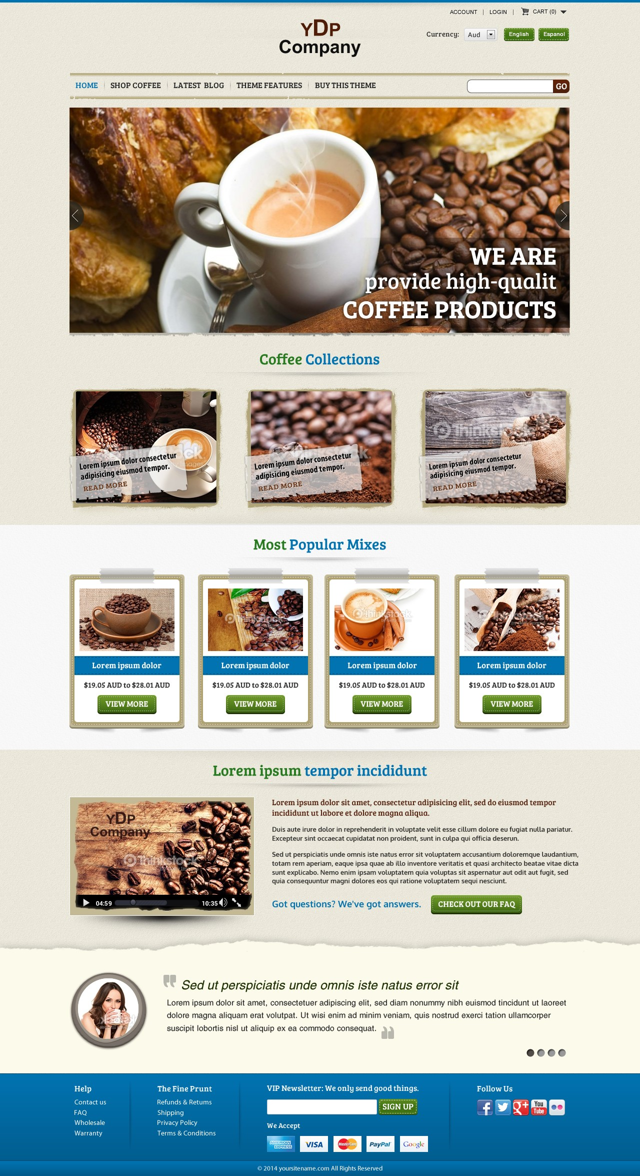 Web page design (CMS)