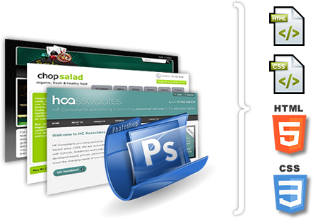 Hand coded PSD HTML conversion | PSD to XHTML conversion.